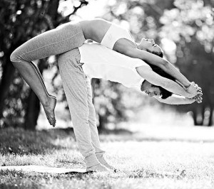 Yoga Couples Poses in Park