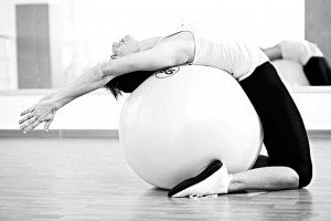 Yoga Ball Exercise - Back Bend